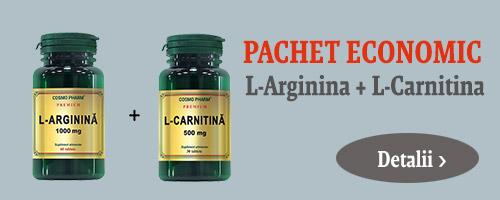 Pachet L-Arginina + L-Carnitina