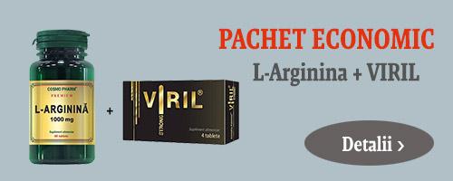 Pachet L-Arginina + Viril Strong