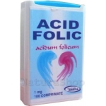 Acid Folic 1 mg, 100 comprimate