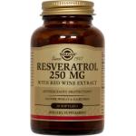 Resveratrol 250mg, 30 capsule