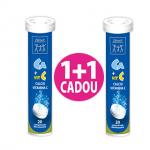 Calciu cu Vitamina C Efervescent, 20 comprimate