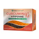 Curcumin 95% 400 mg si Piperine, 30 capsule vegetale 1+1 CADOU