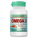 Omega 3 Ulei din Ficat de Cod 1002 mg, 30 capsule