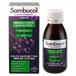Sambucol Immuno Forte + Vitamina C + Zinc, Fara Zahar, Sirop, 120 ml