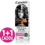 Cameleo  -  Henna Creme -  3.0 Saten inchis - Vopsea vegetala pentru par  fara amoniac si oxidanti - Promotie 1+1 gratis