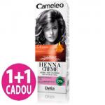 Cameleo  -  Henna Creme - 7.4 Rosu Cupru - Vopsea vegetala pentru par  fara amoniac si oxidanti, promotie 1+1 gratis