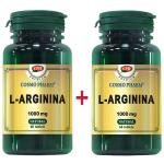 L-Arginina - 1000mg Premium, 60 + 60 tablete