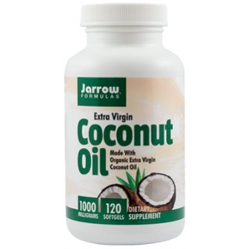 Jarrow Formulas - Coconut Oil Extra Virgin 1000mg, 120 capsule - SECOM