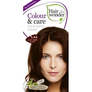 Vopsea Permanenta fara Amoniac cu Ulei de Argan - 3.44 Dark Copper Brown