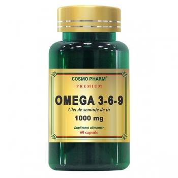 Omega 3-6-9 Ulei de Seminte de In 1000 mg Premium