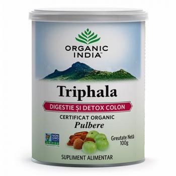 Triphala - Digestie & Detoxifiere Colon, Pulbere 100% Certificat Organic, 100 gr