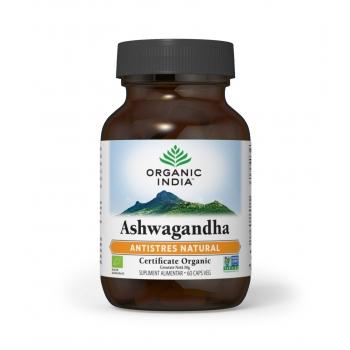 Ashwagandha, 100% Certificat Organic - Antistres Natural si Anti Anxietate, 60 capsule