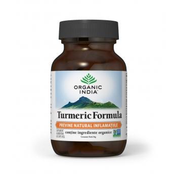 Turmeric Formula - Antiinflamator Natural Eficient - 100% Certificat Organic, 60 capsule