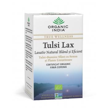 Ceai Tulsi Lax - Laxativ Natural Bland si Eficient, 100% Certificat Organic, 18 plicuri