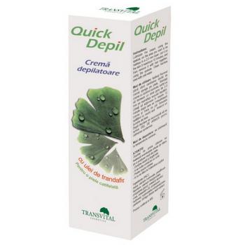 Quick Depil - Crema Depilatoare cu Ulei de Trandafir