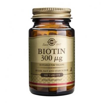 Biotina (Vitamina B7) 0.3mg, 100 tablete