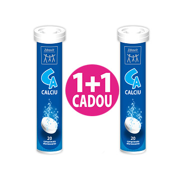 Calciu Efervescent, 20 comprimate
