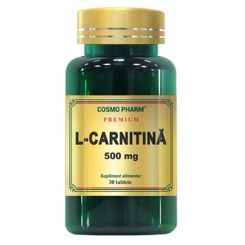 L-Carnitina Premium 500mg, 30 tablete