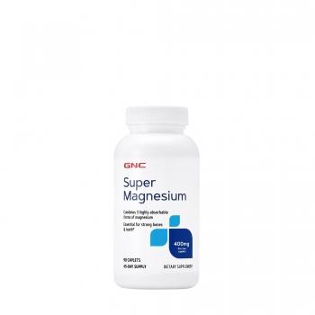 GNC Super Magneziu 400mg, 90 tablete