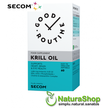 Good Routine by Secom - Krill Oil, 60 capsule gelatinoase moi