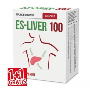 Quantum Parapharm Es-Liver 100 - Hepatoprotector, 30 capsule