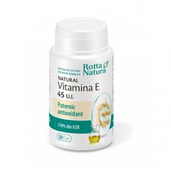 Rotta Natura Vitamina E Naturala 45 UI, 30 capsule
