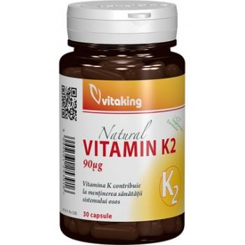 Vitaking  Vitamina K2 Naturala 90mcg, 30 capsule