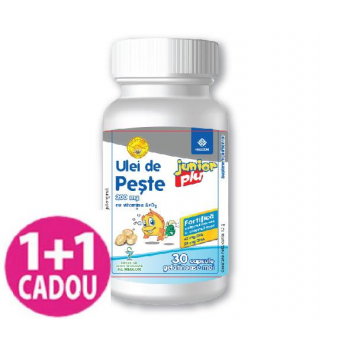 AC Helcor Ulei de Peste Junior 200mg plus Vitamina A si D2, 30 capsule