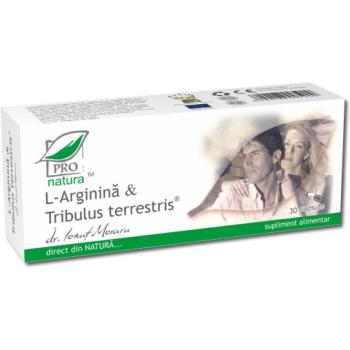 L-Arginina si Tribulus (Coltii Babei), 30 capsule