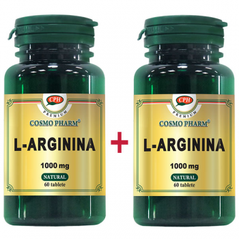 L-Arginina - 1000mg Premium, 60 + 60 tablete