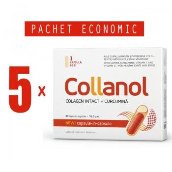 Collanol - Complex Colagen Intact si Curcumina, 845 mg, 20 capsule vegetale