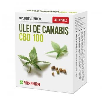 Quantum Parapharm Ulei de Canabidiol CBD 100 - 498 mg, 30 capsule